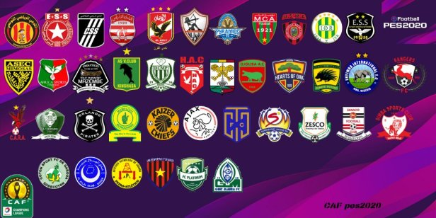 CAF PES to 2020 teams