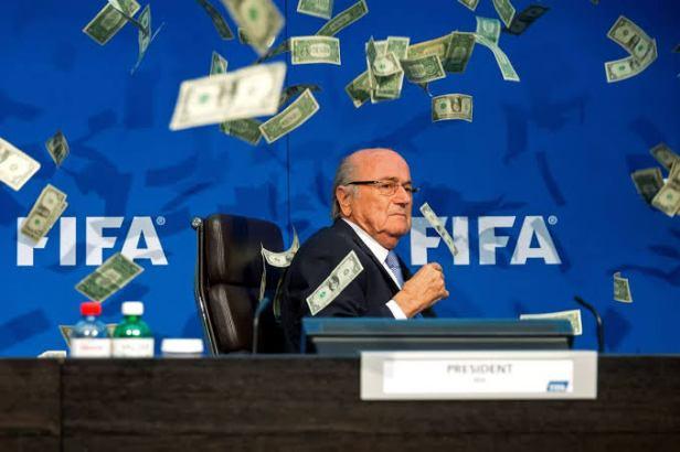 Sepp Blatter Money Shower
