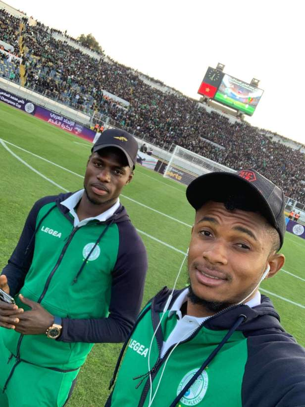 Fabrice Ngoma and Ben Malango