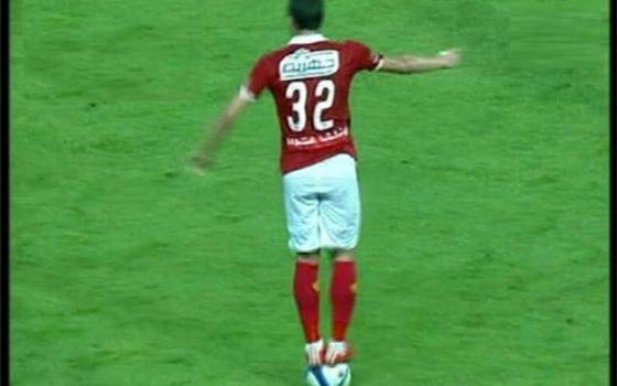 Ramadan Sobhi standing on the ball