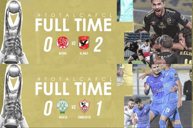 Cafcl 19/20 semifinal first leg results