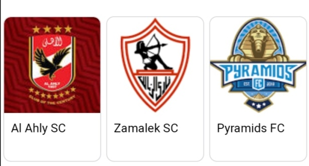 Egyptian Premier League big three